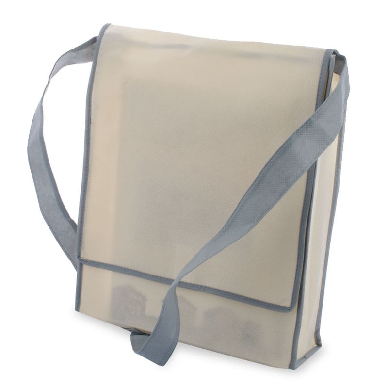 Netkaná taška šedá