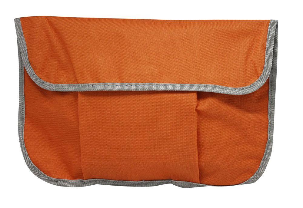Portfolio na suchý zip oranžové