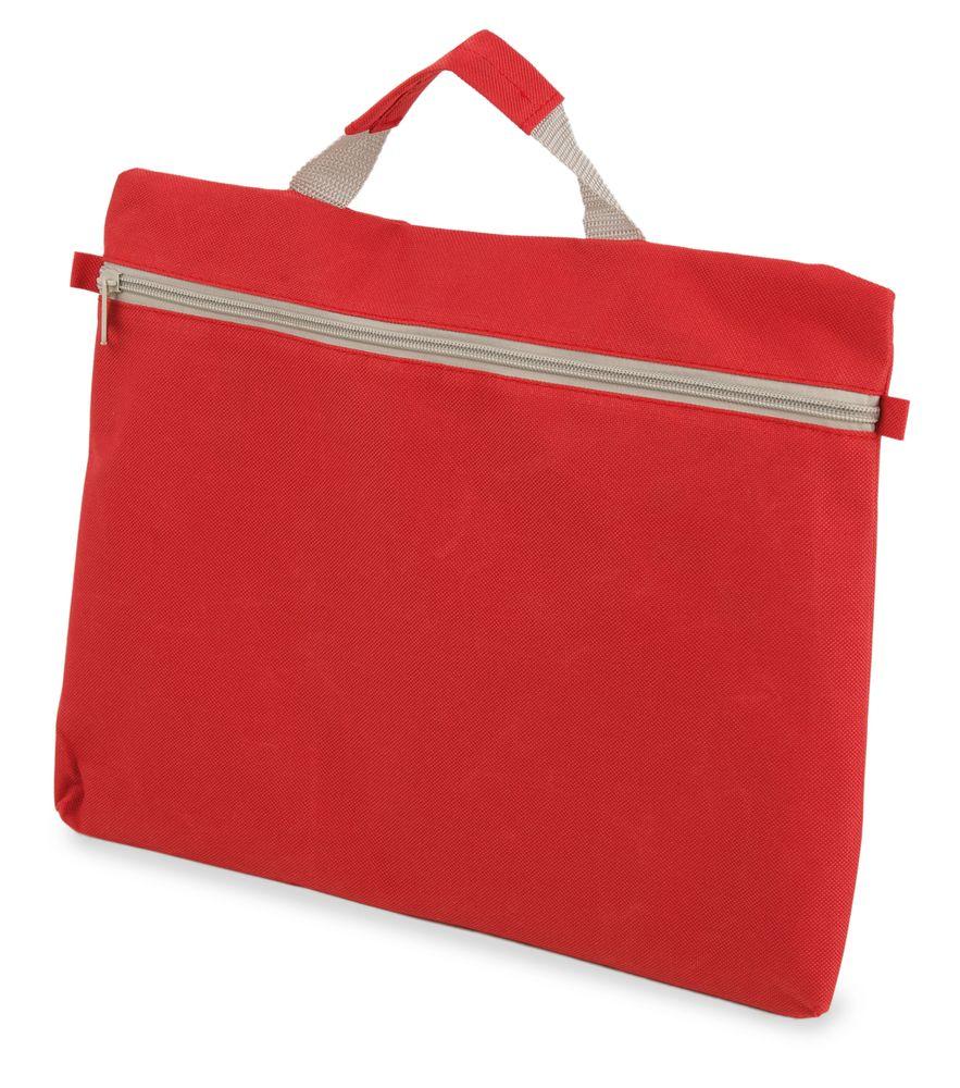 Kongresová taška na zip  červená