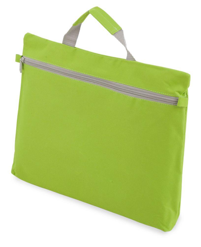 Kongresová taška na zip  světle zelená