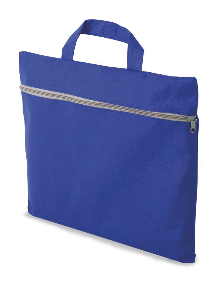 Portfolio z netkané textilie modré