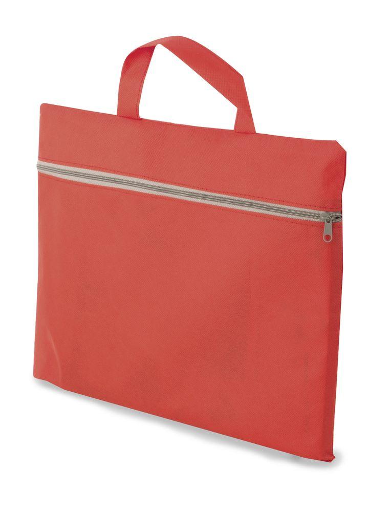 Portfolio z netkané textilie červené