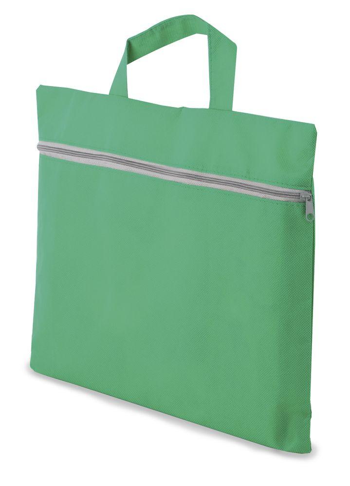 Portfolio z netkané textilie zelené