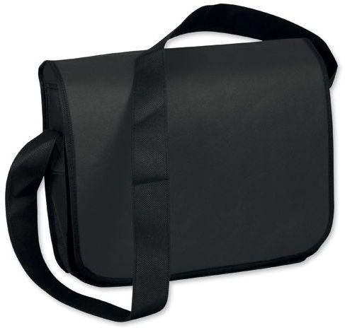 NONIE taška přes rameno z netkané textilie, 135 g/m2, černá