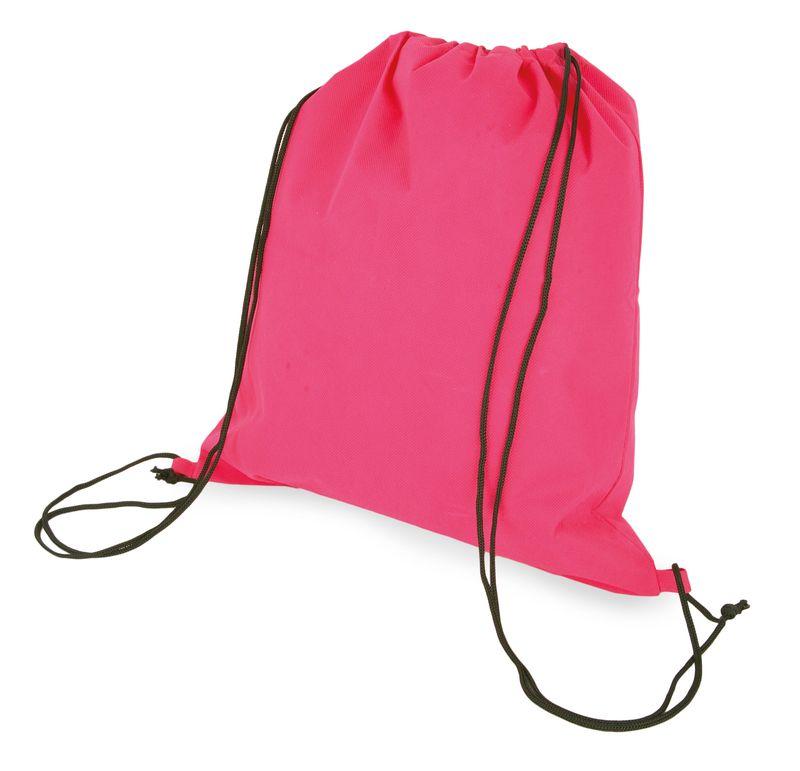 Netkaný batůžek růžový s potiskem