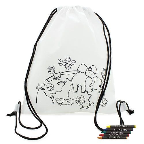 Dětský batoh s voskovkami