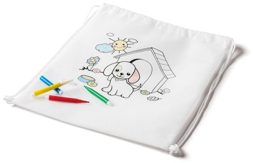 Dětský sportovní batoh na vybarvení.