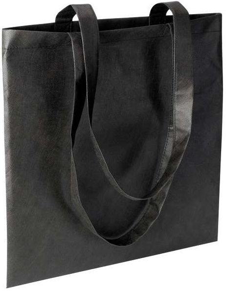 Černá nákupní taška z netkané textilie