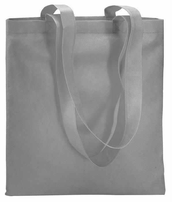 Šedá nákupní taška z netkané textilie