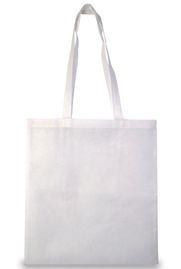 Bílá nákupní taška z netkané textilie