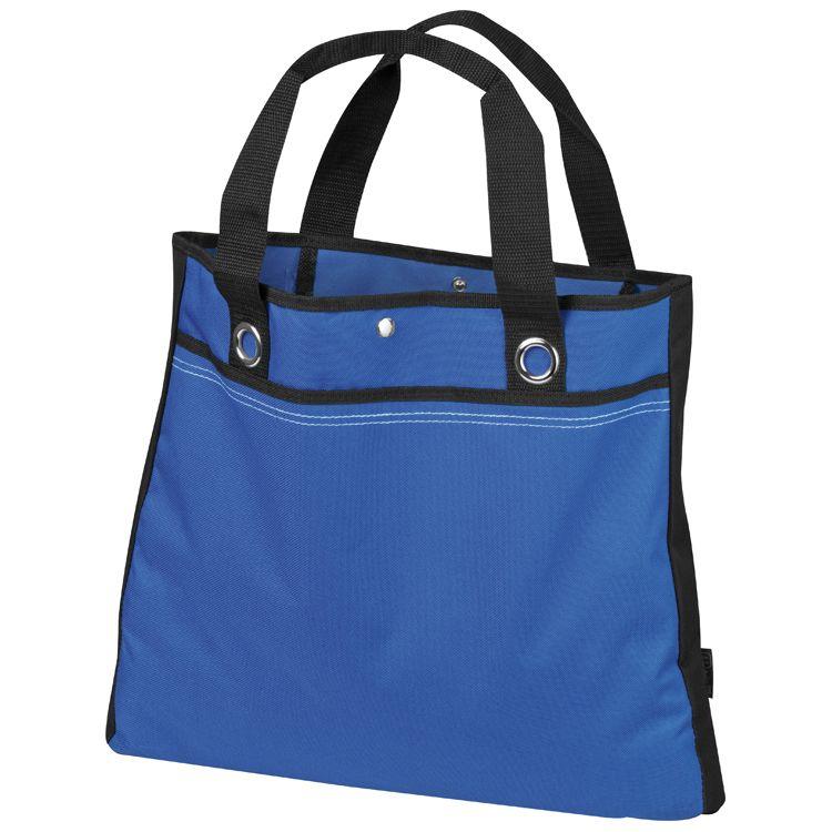 Modrá nákupní taška s rukojetí