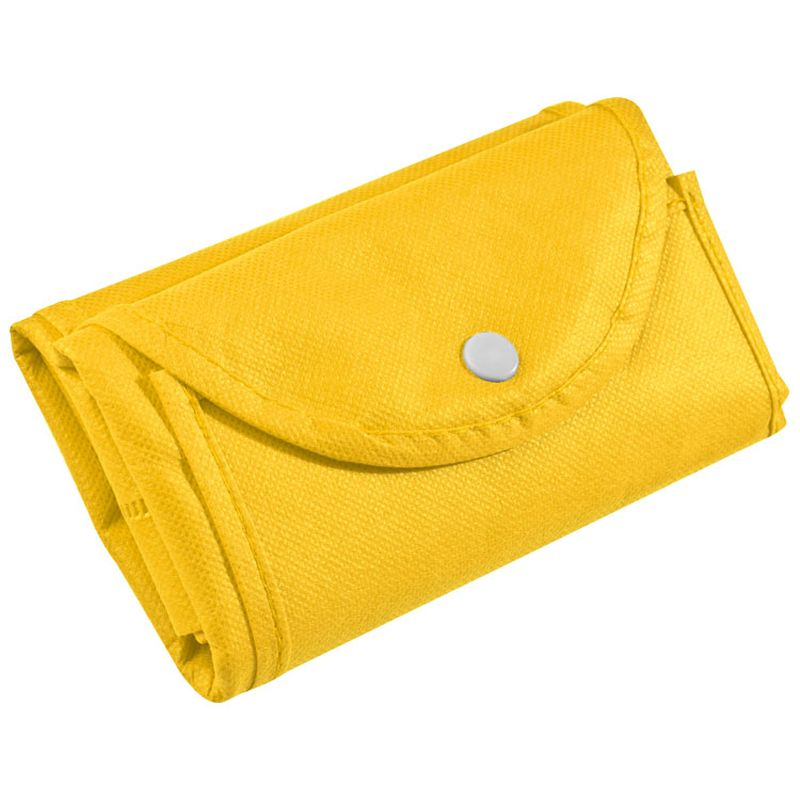 Žlutá skládací nákupní taška z netkané textilie