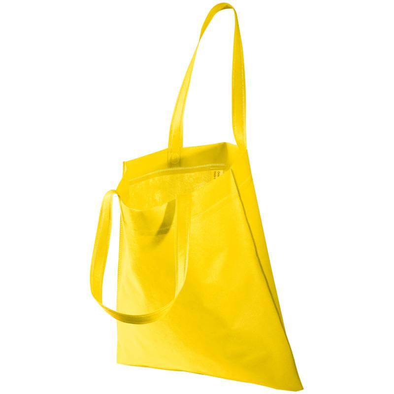 Žlutá netkaná taška s dlouhými uchy