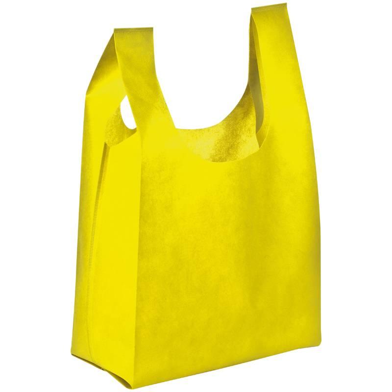 Netkaná taška s dlouhými uchy žlutá