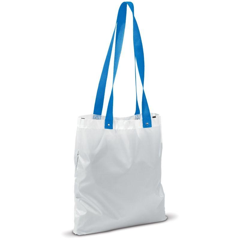 Biba bílá polyesterová taška s modrým uchy