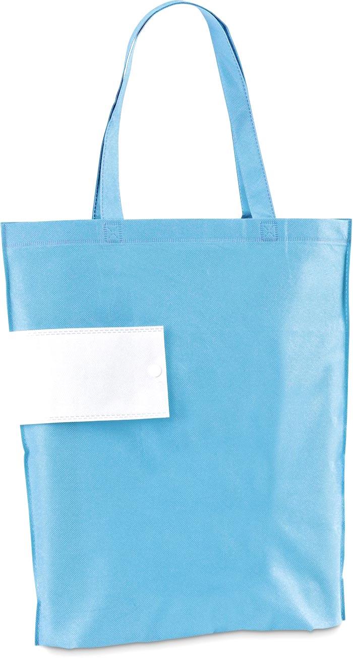 Netkaná skládací taška světle modrá