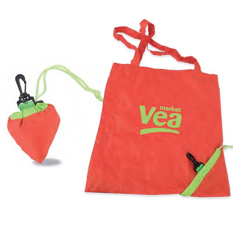 Skládací taška ve tvaru ovoce červená