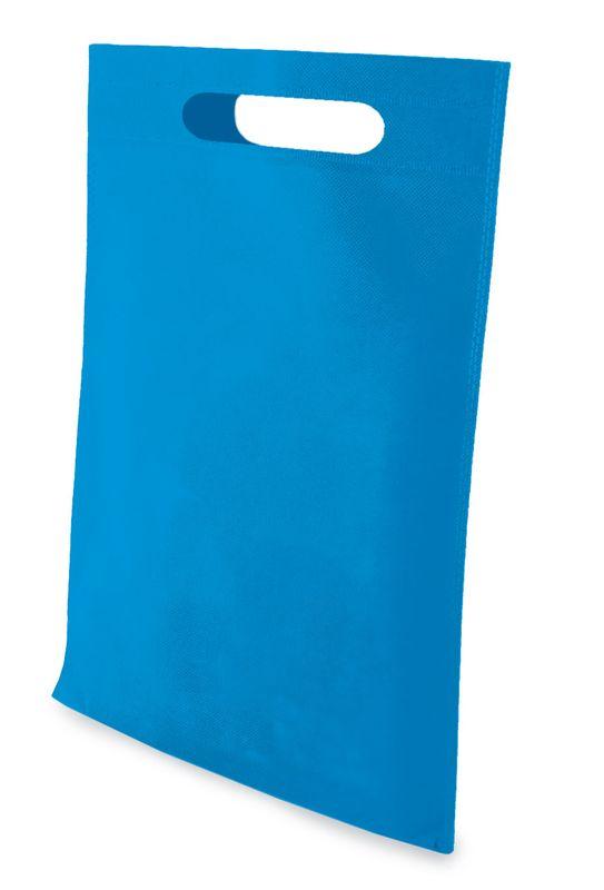 LISA netkaná taška modrá
