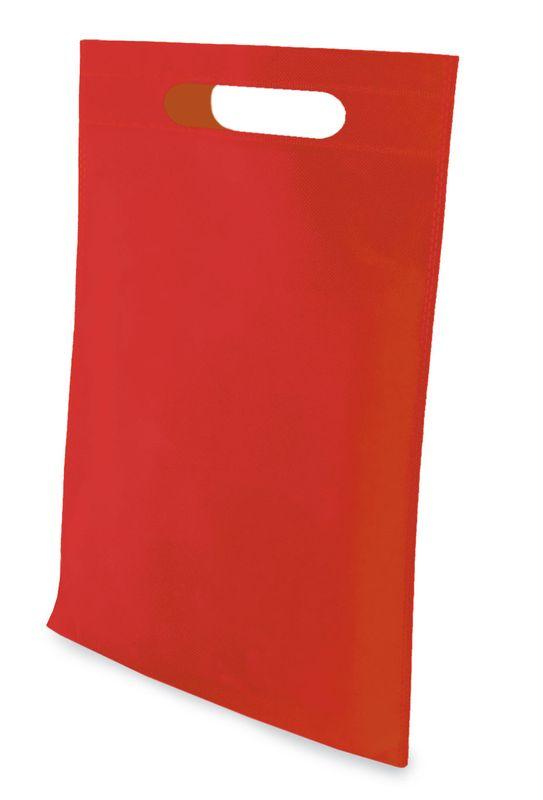 LISA netkaná taška červená