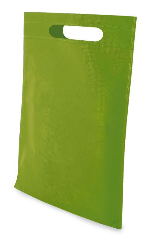LISA netkaná taška světle zelená