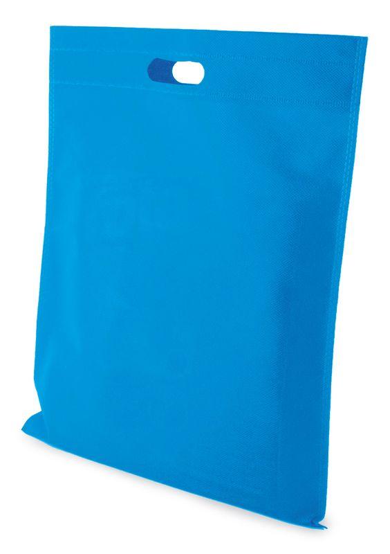 KATY netkaná taška modrá