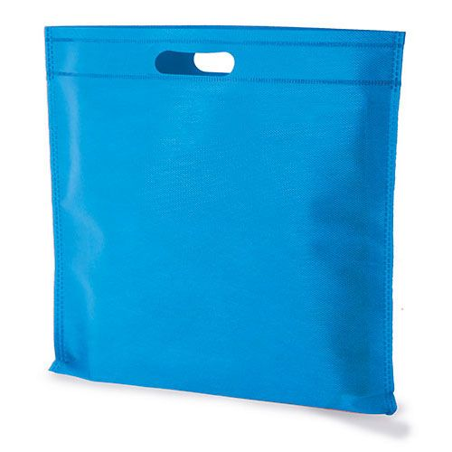 RADKA netkaná velká taška světle modrá