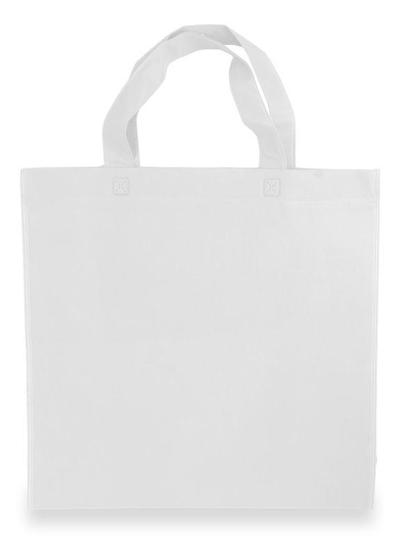 LAURA netkaná taška bílá