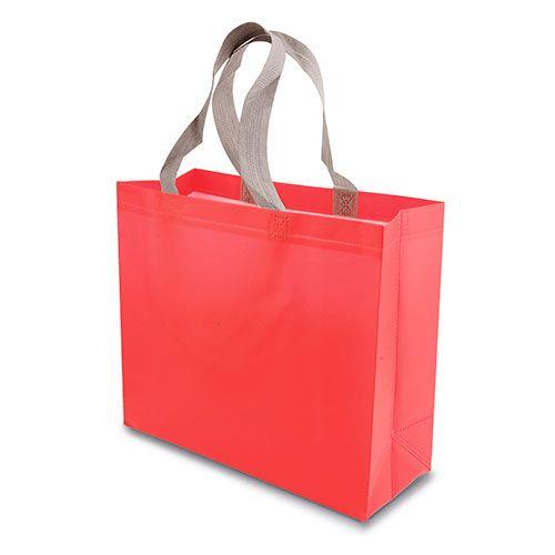 Malá netkaná taška Yucatan červená s potiskem