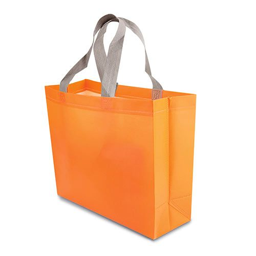 Malá netkaná taška Yucatan oranžová s potiskem