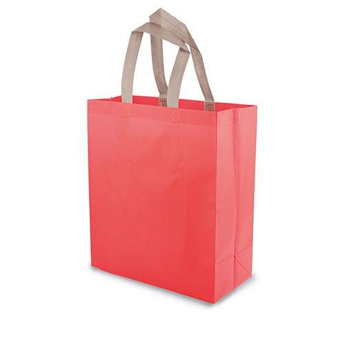 Velká netkaná taška Yucatan červená