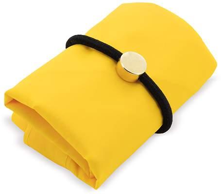 Skládací nákupní taška s gumičkou, žlutá