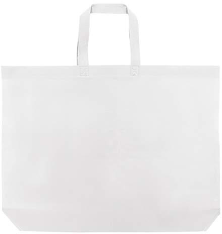 Velká netkaná taška, bílá