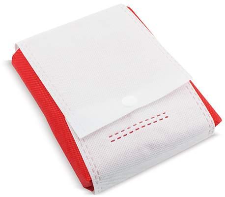 Netkaná skládací taška, červená