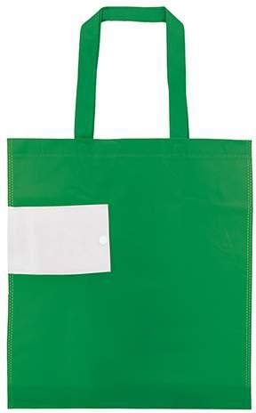 Netkaná skládací taška, zelená