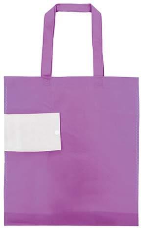 Netkaná skládací taška, fialová