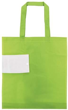 Netkaná skládací taška, světle zelená