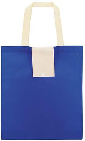 Netkaná skládací taška, modrá