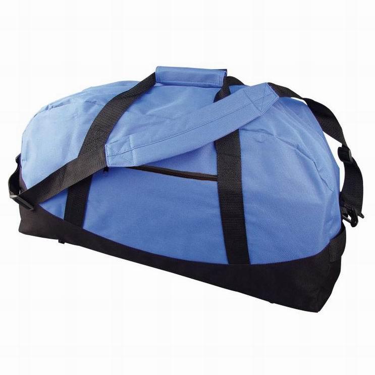 Modrá sportovní taška s přední kapsou