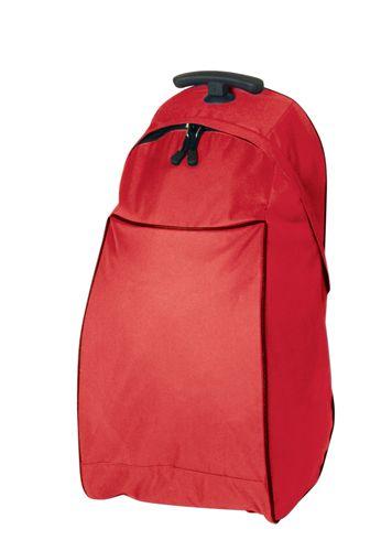 Červená taška na kolečkách