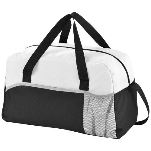 Bílá plátěná taška Energy s potiskem