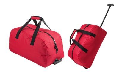 Bertox červená sportovní taška na kolečkách s potiskem