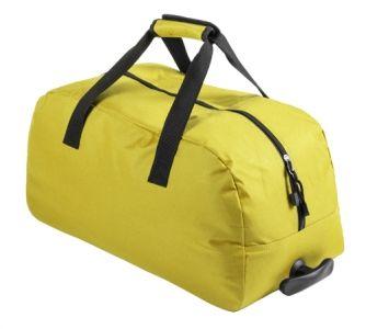 Bertox žlutá sportovní taška na kolečkách s potiskem