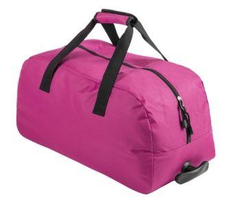 Bertox růžová sportovní taška na kolečkách