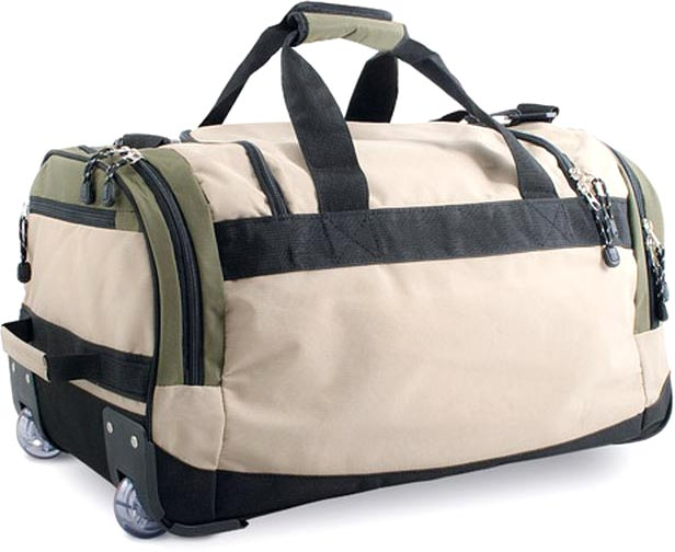 Cestovní taška na kolečkách khaki