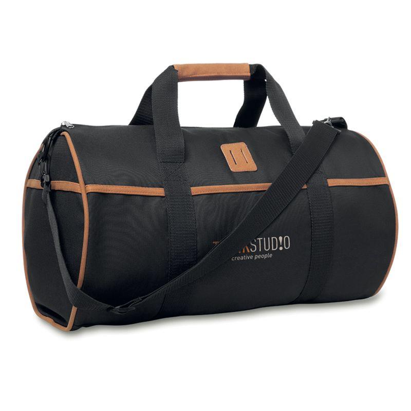 Batoh s koženými doplňky
