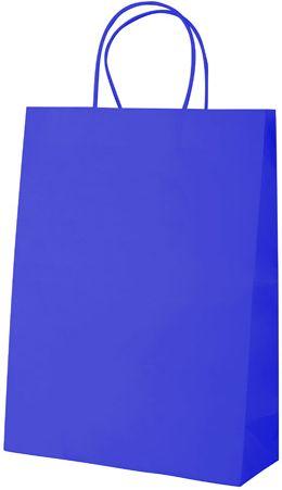 Store modrá papírová taška