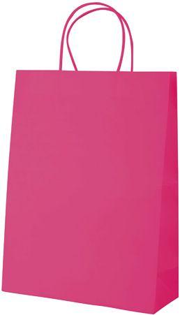 Store růžová papírová taška