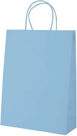 Store nebesky modrá papírová taška