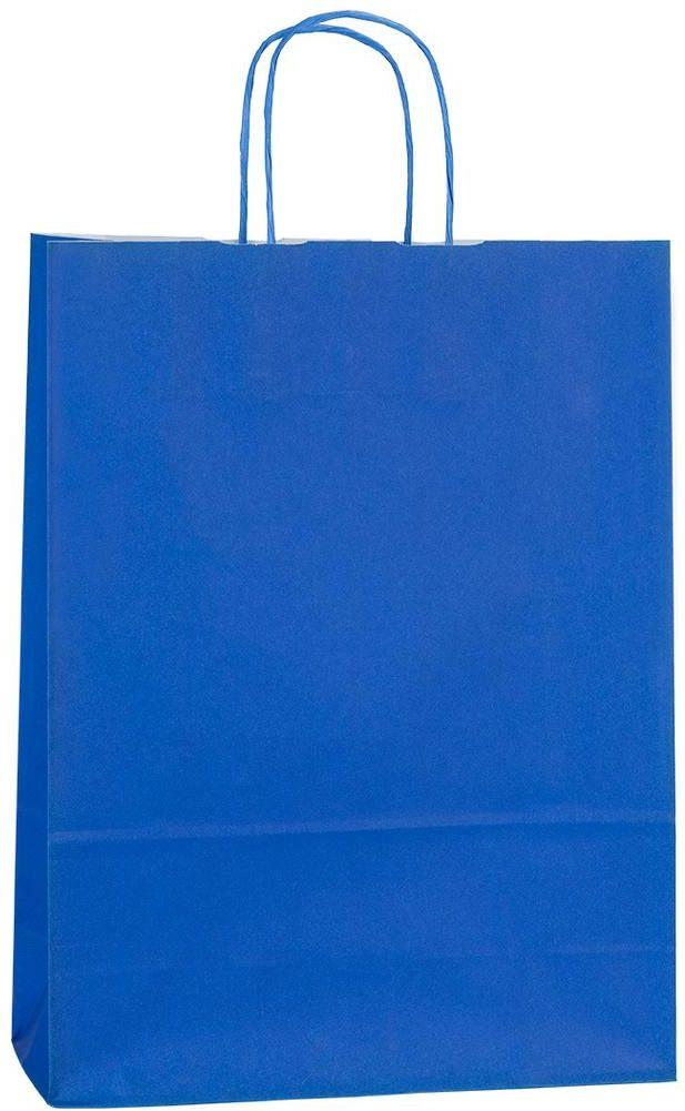 Modrá papírová taška 18x8x20 cm