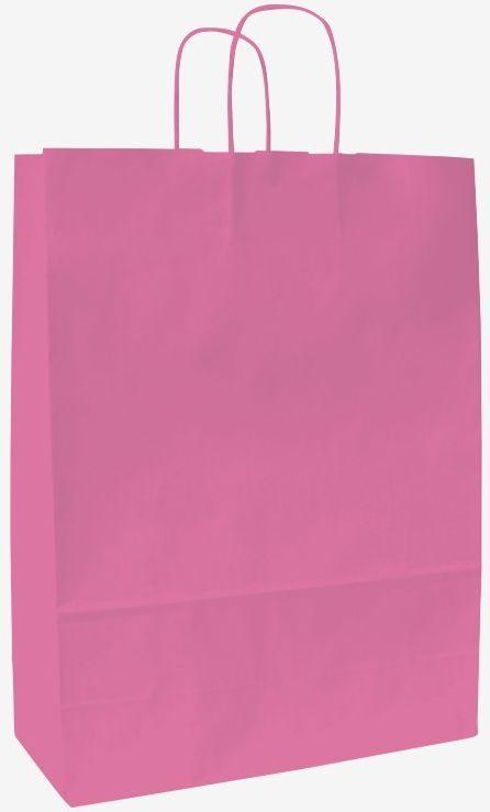 Růžová papírová taška 18x8x20 cm
